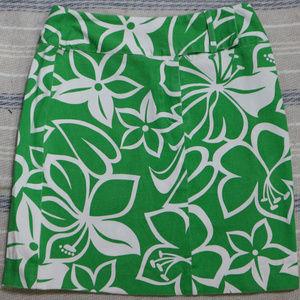 HAROLD'S Green Floral Print Mini Skirt